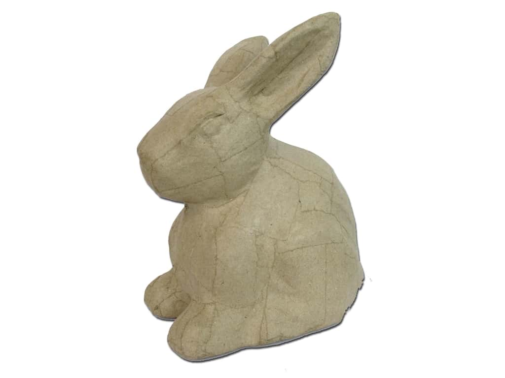 PA Paper Mache Large Sitting Rabbit 8 1/4 in.