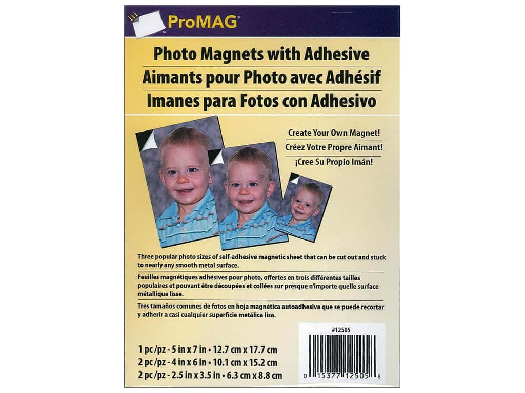 ProMag Magnetic Adhesive Sheet Variety Pack 5 pc.