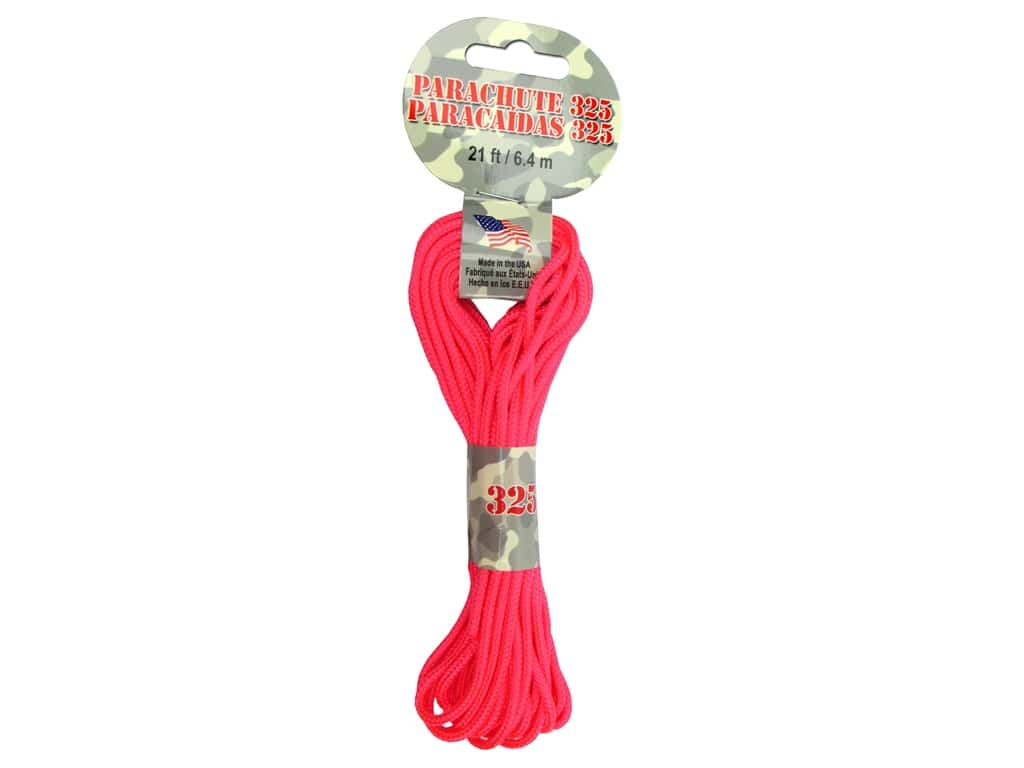 Pepperell 325 Parachute Cord 21 ft. Neon Pink