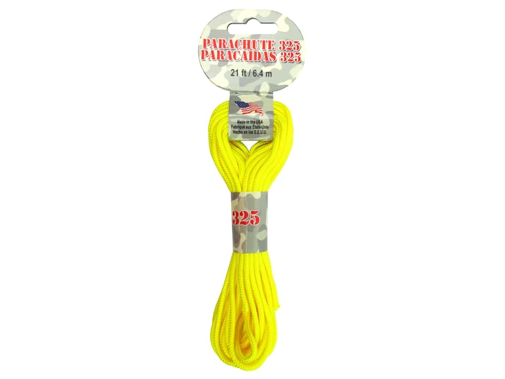 Pepperell 325 Parachute Cord 21 ft. Neon Yellow