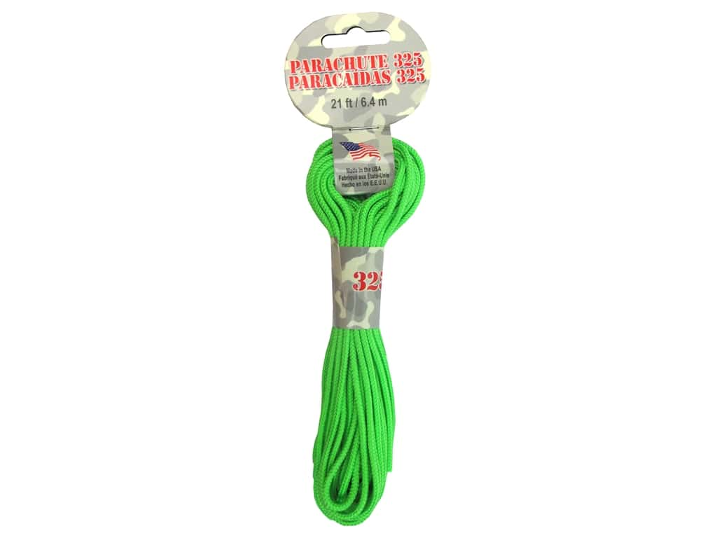 Pepperell 325 Parachute Cord 21 ft. Neon Green