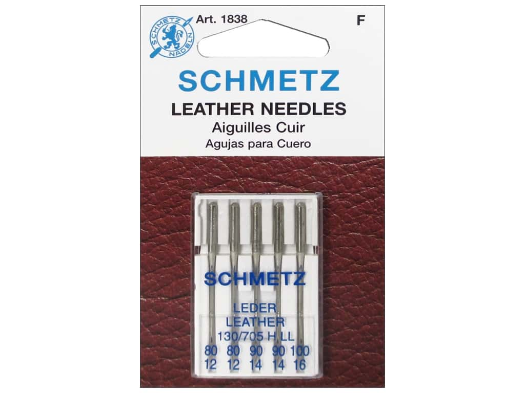 Schmetz Leather Needle Assorted Size 80-100 5 pc