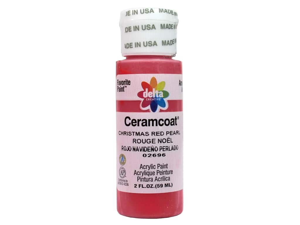 Delta Ceramcoat Acrylic Paint 2 oz. #2696 Christmas Red Pearl