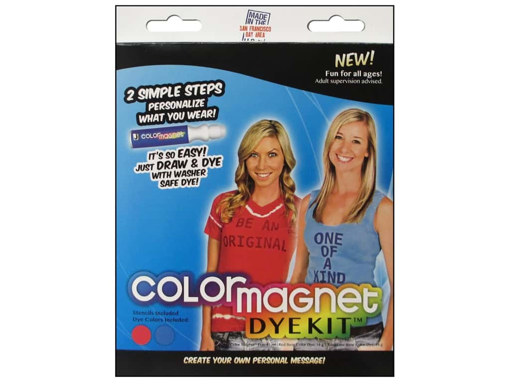 Jacquard Color Magnet Dye Kit Red/Turquoise