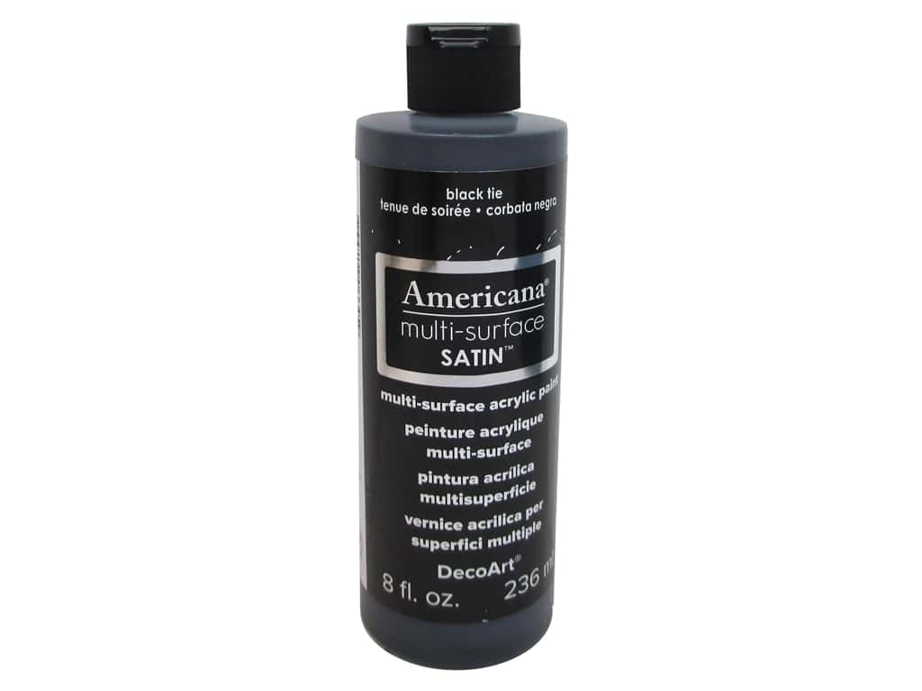 DecoArt Americana Multi-Surface Satin 8 oz. #539 Black Tie