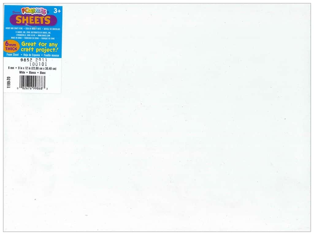 Darice Foamies Foam Sheet  9 x 12 in. 6 mm. White