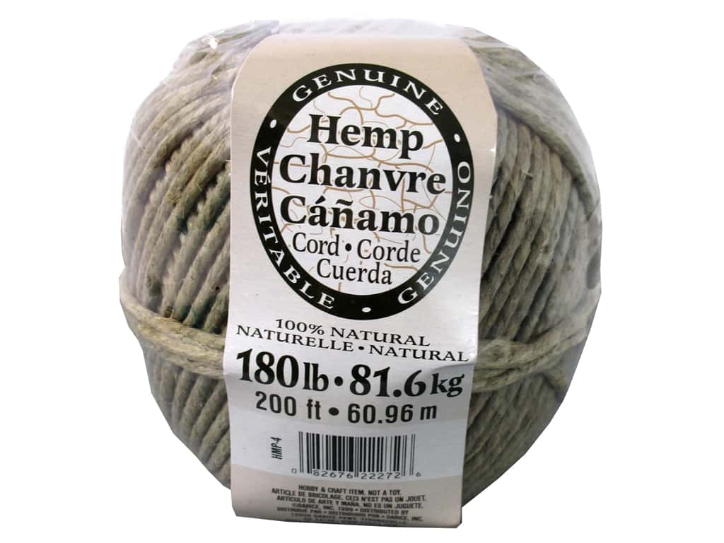 Darice Hemp Cord 180 lb. Natural  200 ft.