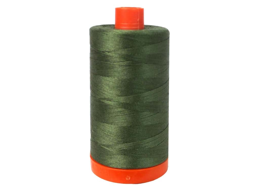 Aurifil Mako Cotton Quilting Thread 50 wt. #5012 Army Green 1420 yd.
