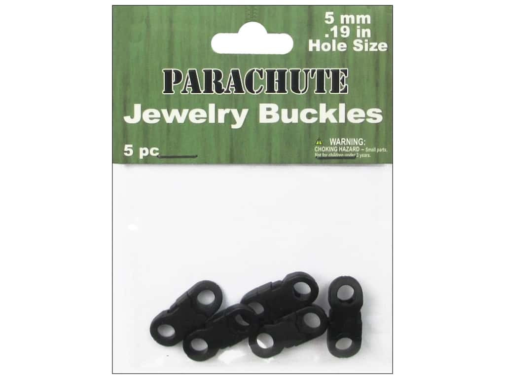 Pepperell Parachute Jewerly Buckles 5 pc
