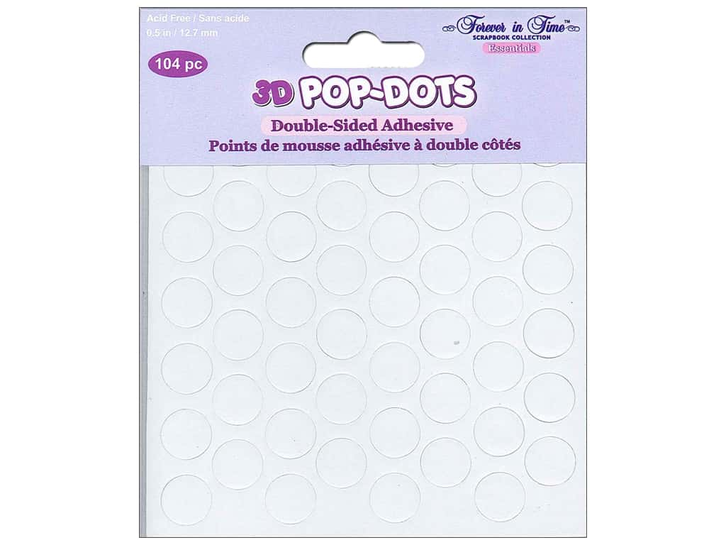 Forever in Time 3D Pop Dots - 1/2 in. Round Foam 104 pc.