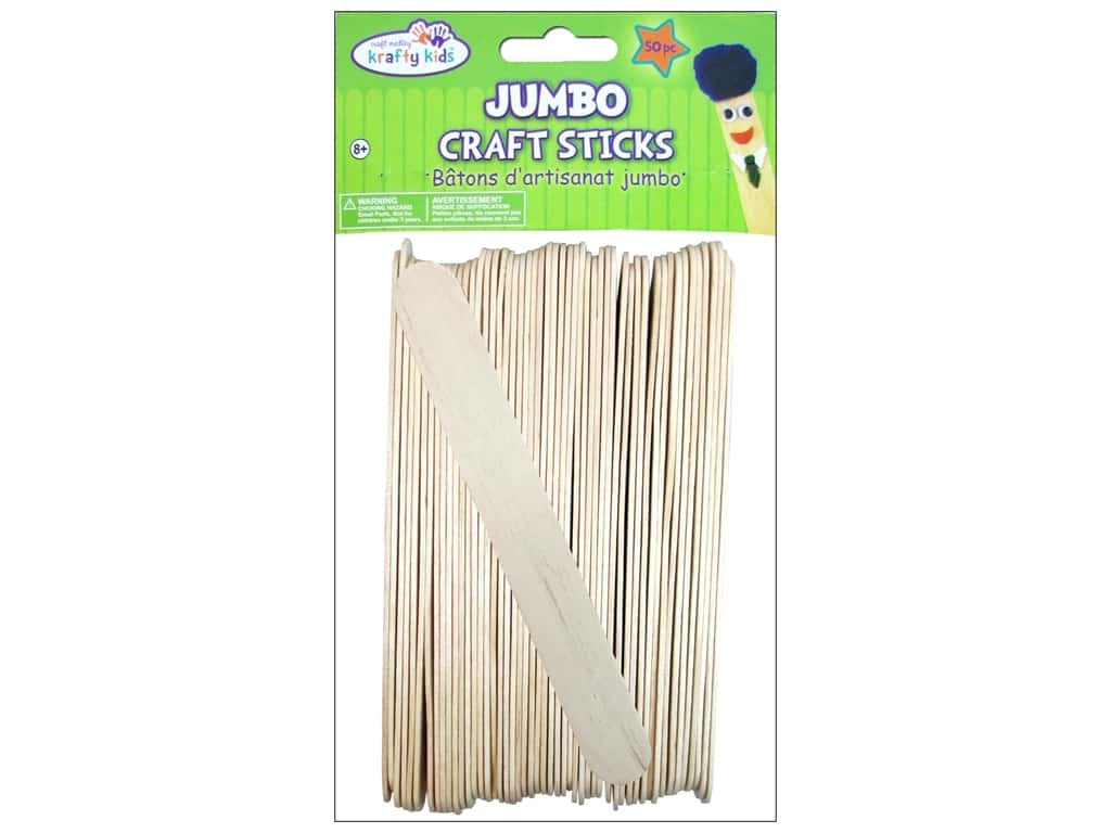 Craft Medley Craft Sticks Jumbo 6 in. 50 pc.