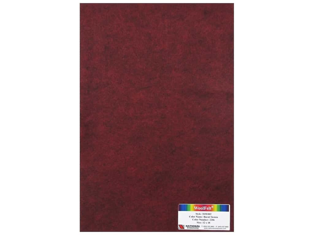 National Nonwovens 35% Wool Felt 12 x 18 in. Burnt Sienna (12 sheets)