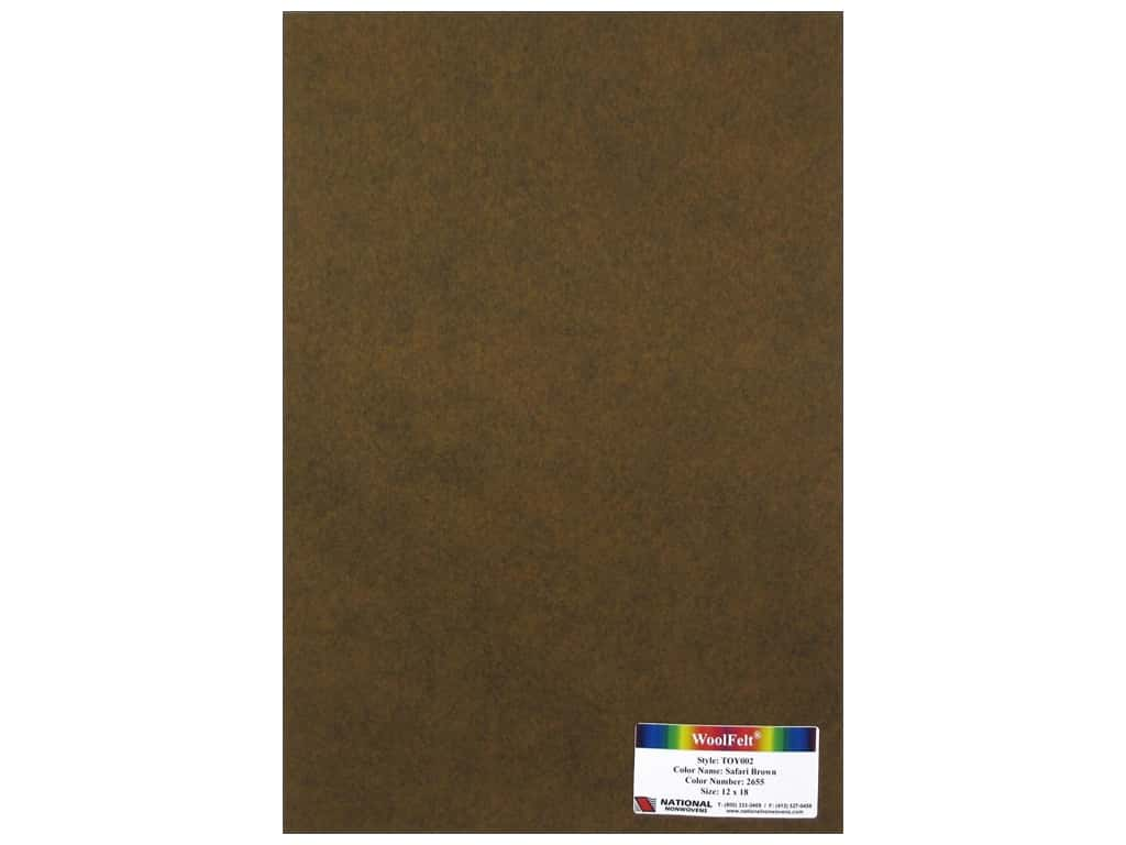 National Nonwovens 35% Wool Felt 12 x 18 in. Safari Brown (10 sheets)