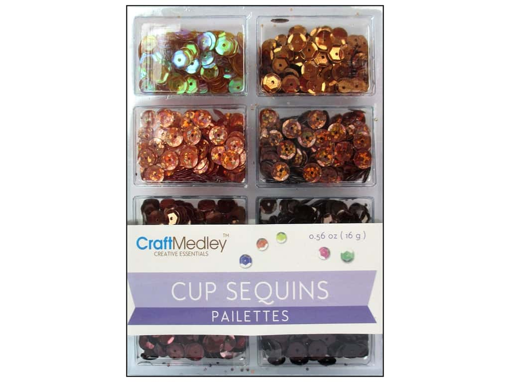 Craft Medley 7 mm Cupped Sequins Box Of Chocolate