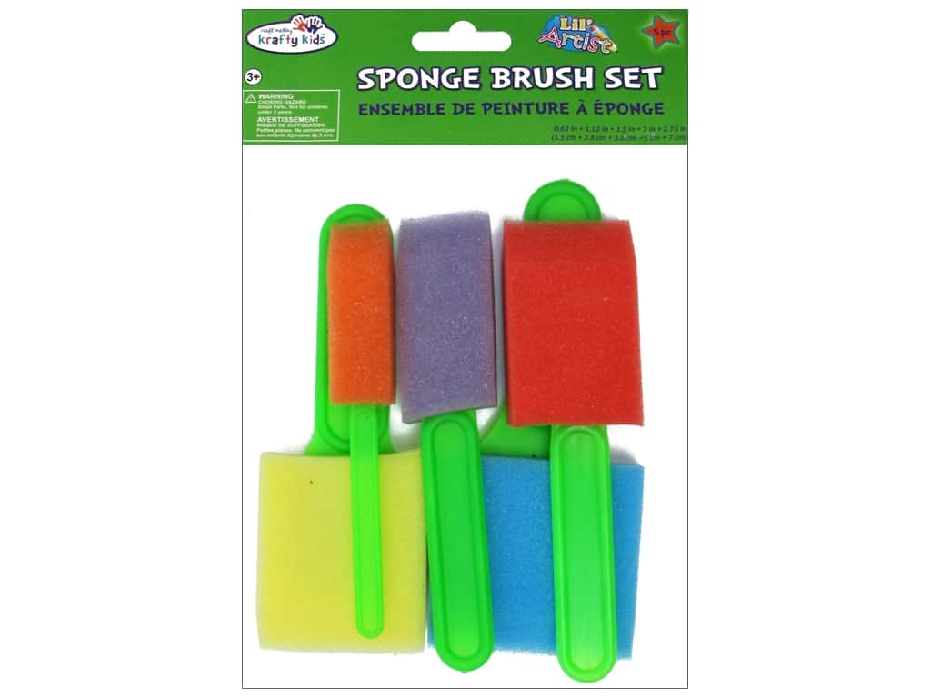 Craft Medley Sponge Brush Set 5 pc.