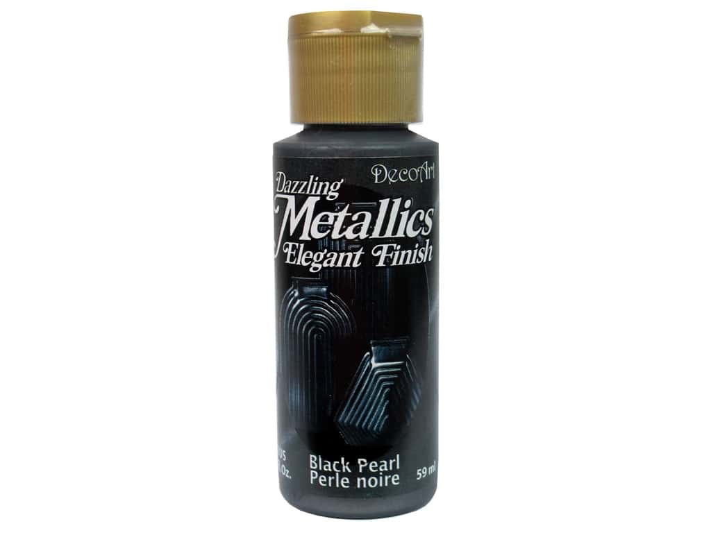 DecoArt Dazzling Metallics Acrylic Paint 2 oz. Black Pearl