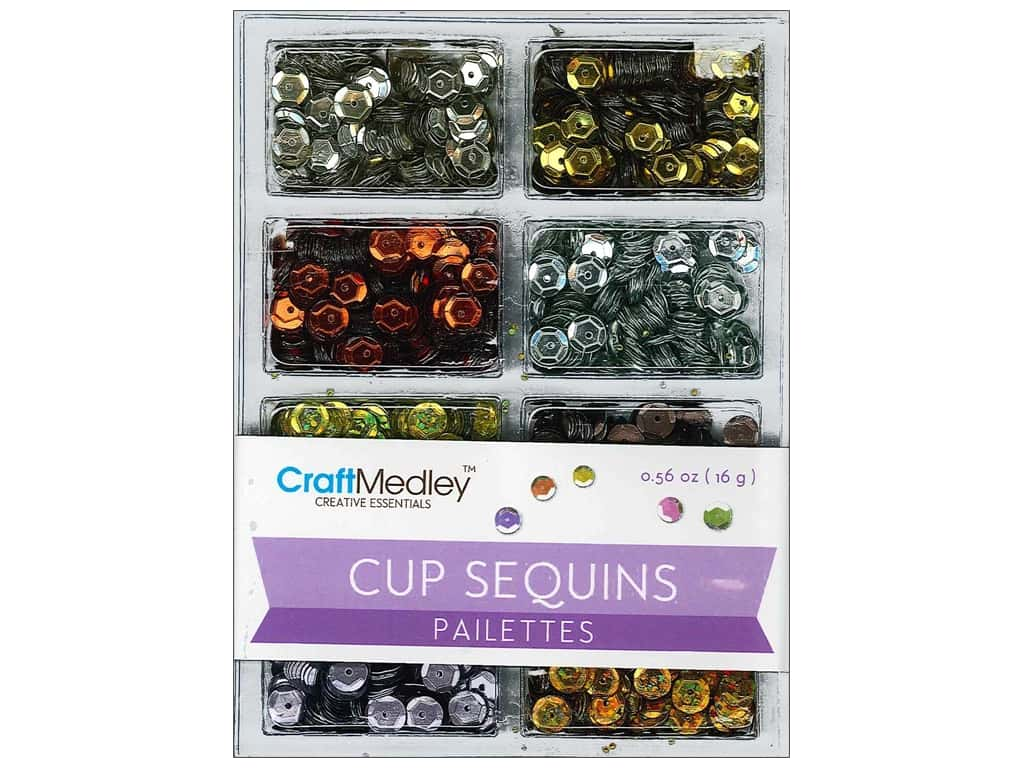 Craft Medley 7 mm Cupped Sequins Dazzle Metallics