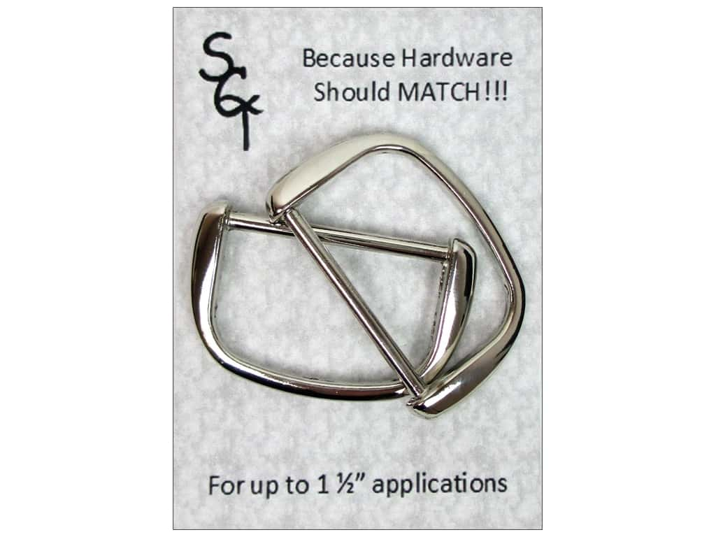 """Sisters Common Thread Hardware D Ring 1.5"""" Nickel 2pc"""