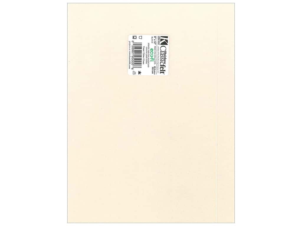 Kunin Felt 9 x 12 in. Cream (24 sheets)
