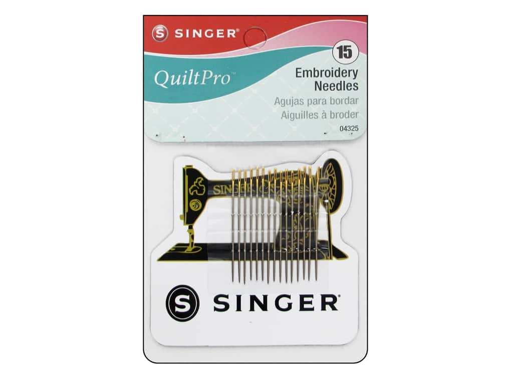 Singer Notions QuiltPro Embroidery Needles with Magnet 15pc