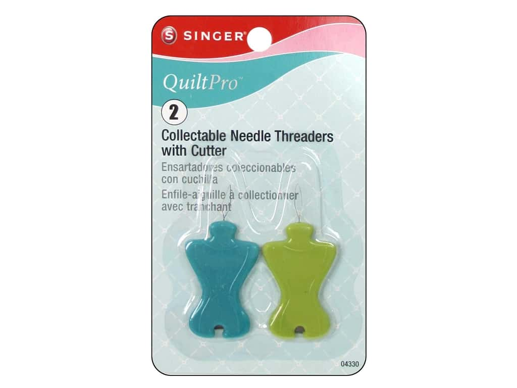 Singer Notions QuiltPro Needle Threader with Cutter 2pc