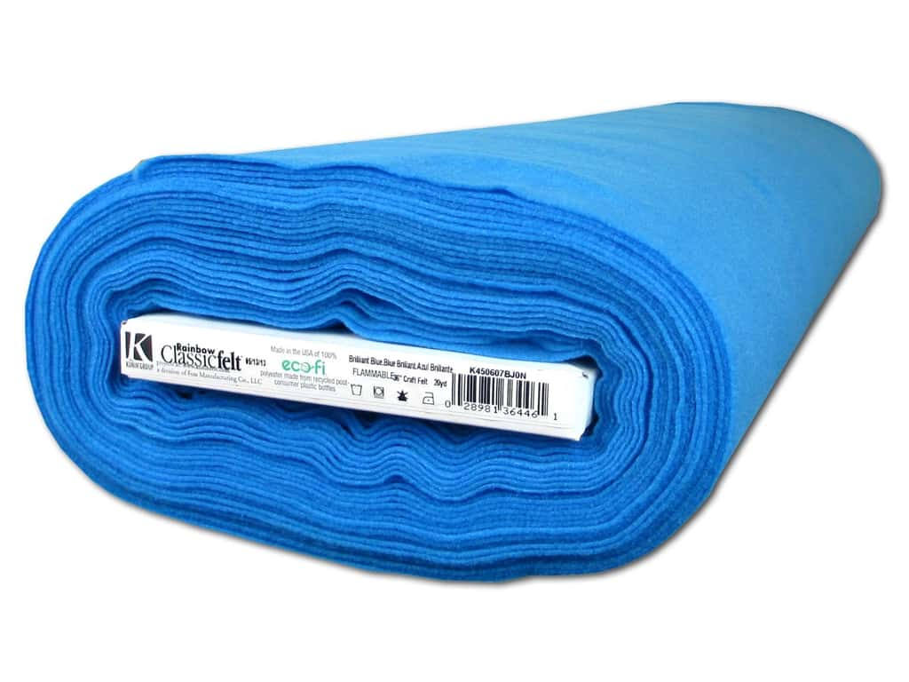 Kunin Rainbow Classic Felt 36 in. x 20 yd. Brilliant Blue (20 yards)