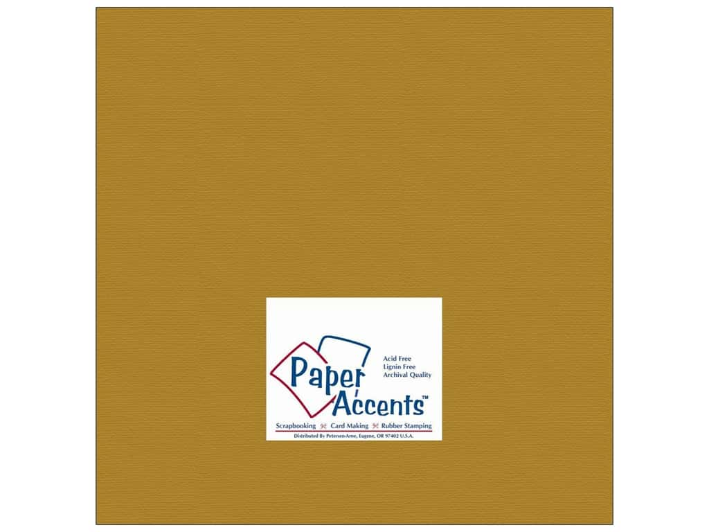 Paper Accents Cardstock 12 x 12 in. Brushed Gold 25 pc.