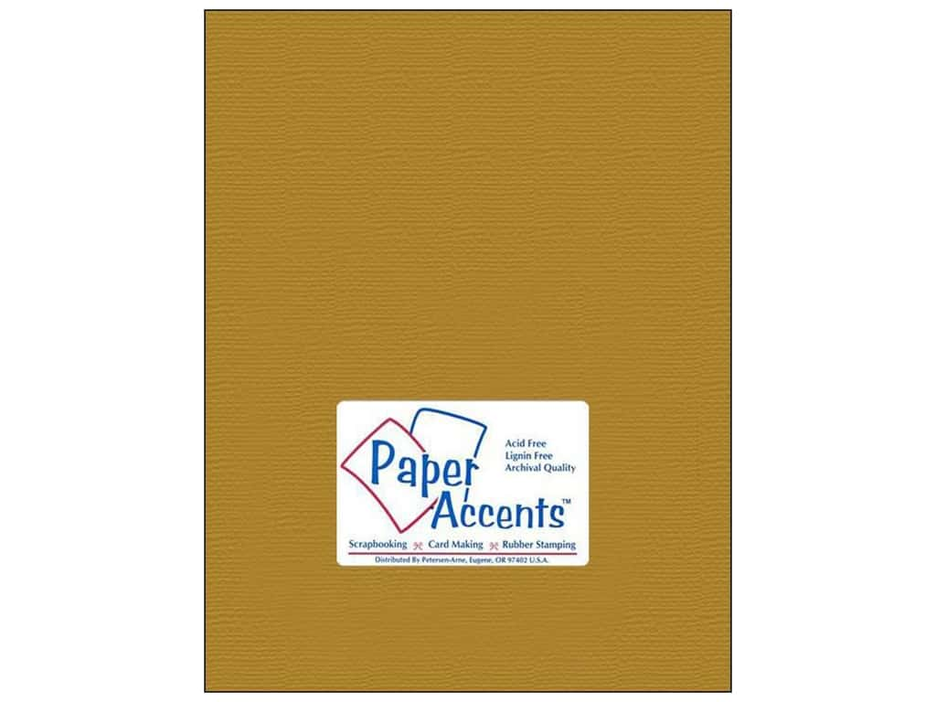 Paper Accents Cardstock 8 1/2 x 11 in. Brushed Gold 25 pc.