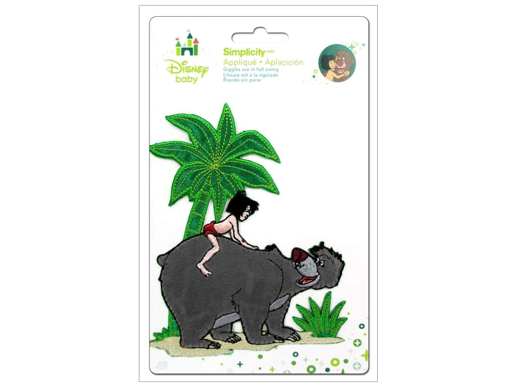 Simplicity Disney Baby Iron On Jungle Book Boy With Bear