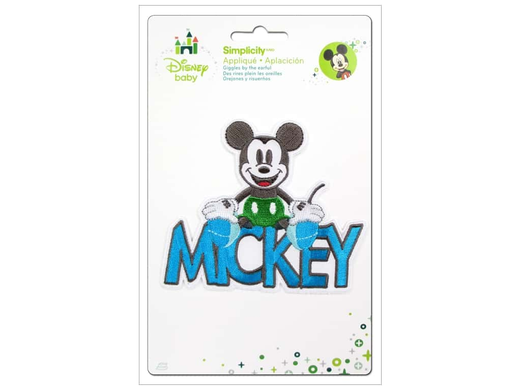 Simplicity Disney Baby Iron On Mickey With Words