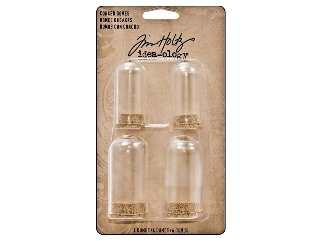 Tim Holtz Idea-ology Corked Domes 4pc
