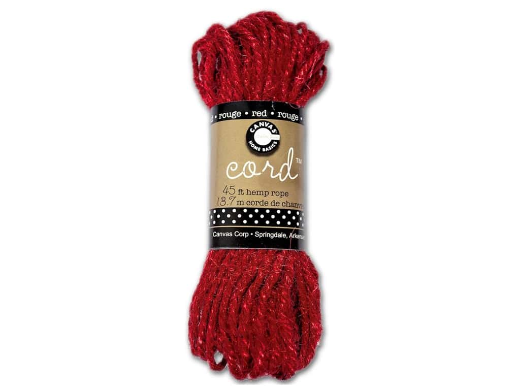 Canvas Corp Hemp Rope 45 ft. Red