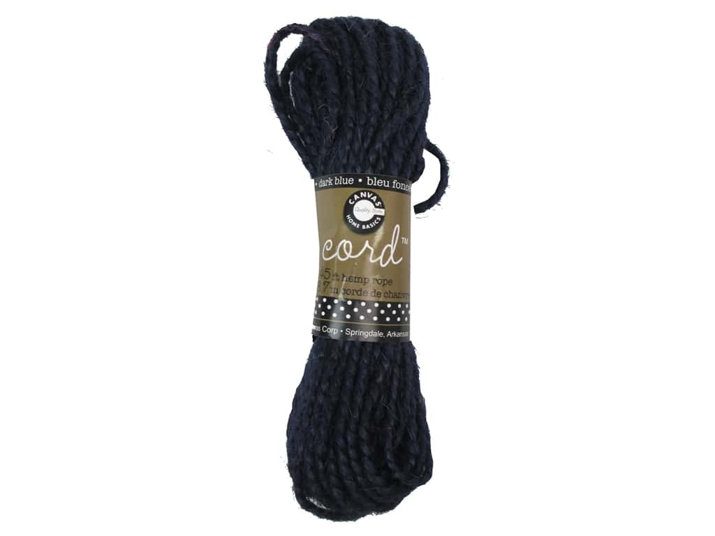 Canvas Corp Hemp Rope 45 ft. Dark Blue