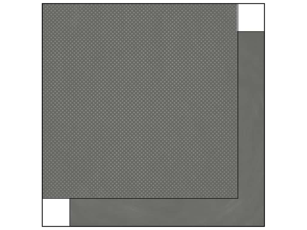 Bo Bunny 12 x 12 in. Paper Double Dot Collection Charcoal Dot (25 sheets)