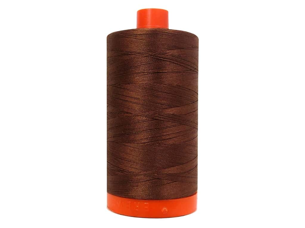 Aurifil Mako Cotton Quilting Thread 50 wt. #4012 Nutmeg 1420 yd.