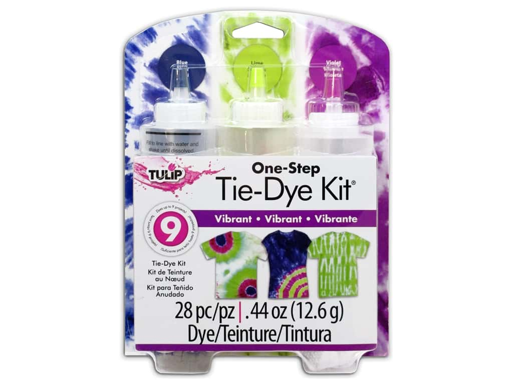 Tulip One Step 3-Color Tie Dye Kits Vibrant