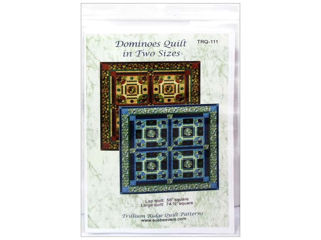 QuiltWoman.com Dominoes Quilt In Two Sizes Pattern
