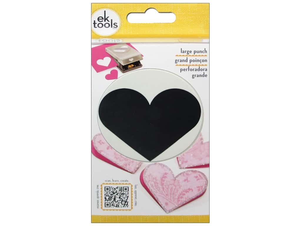 EK Success Large Punch Heart 2 1/4 in.