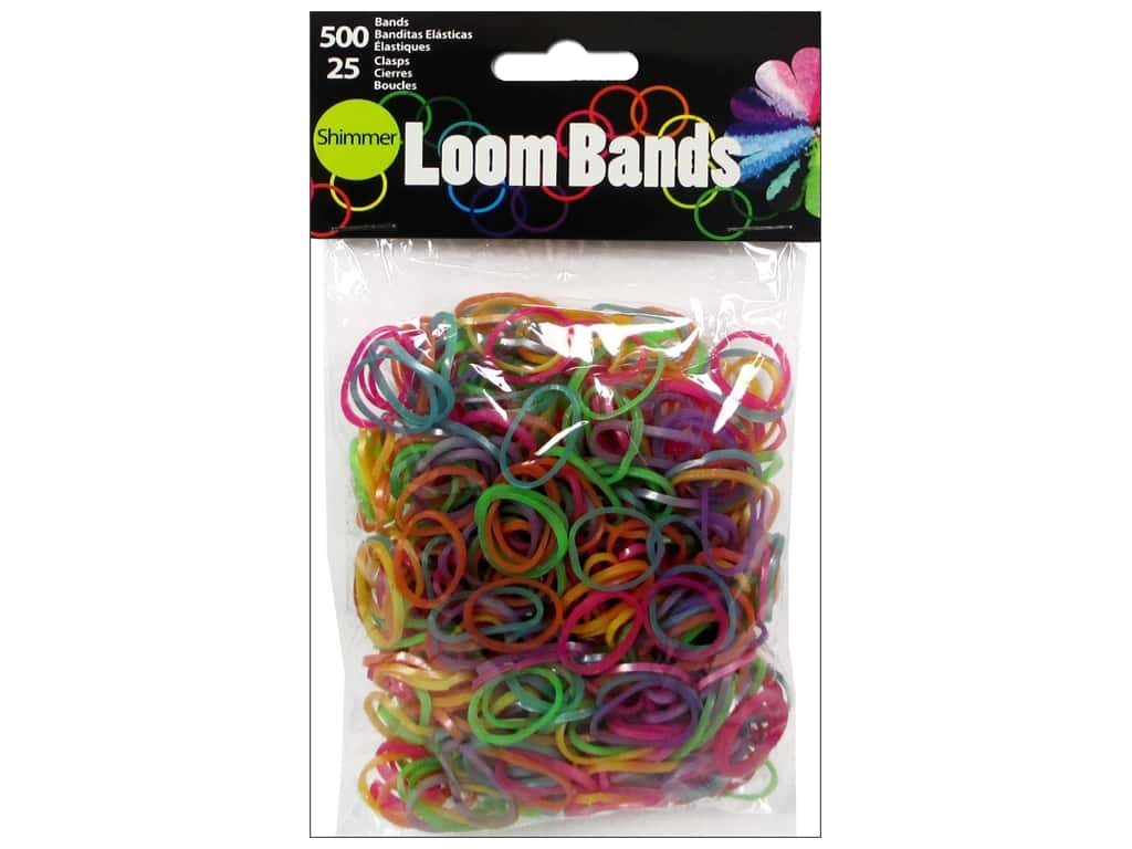 Midwest Design Loom Bands 525 pc. Shimmer Assorted