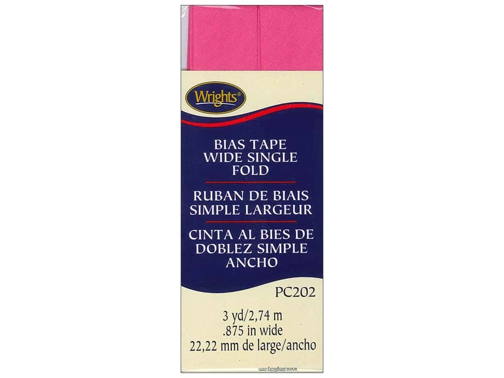 Wrights Wide Single Fold Bias Tape 3 yd. Berry Sorbet