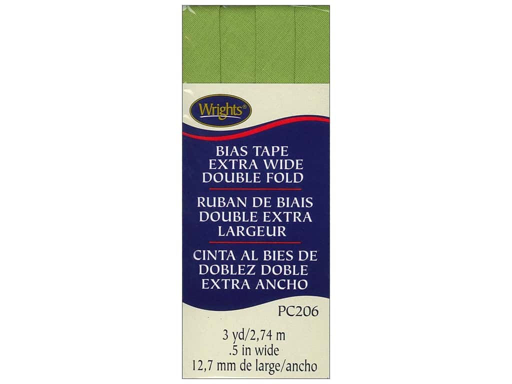 Wrights Extra Wide Double Fold Bias Tape 3 yd. Leaf Green