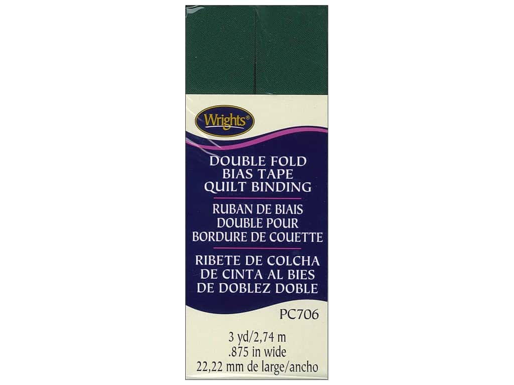 Wrights Double Fold Quilt Binding 3 yd. Jungle Green