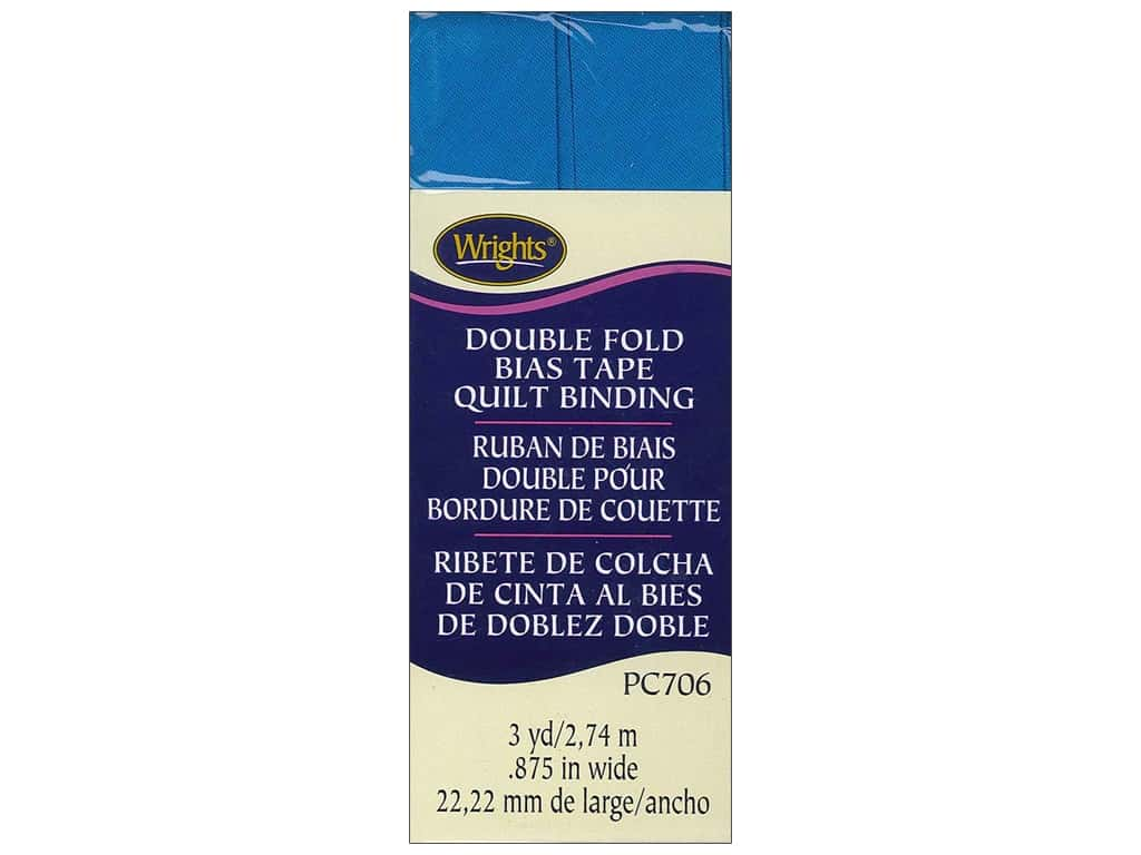 Wrights Double Fold Quilt Binding 3 yd. Turquoise