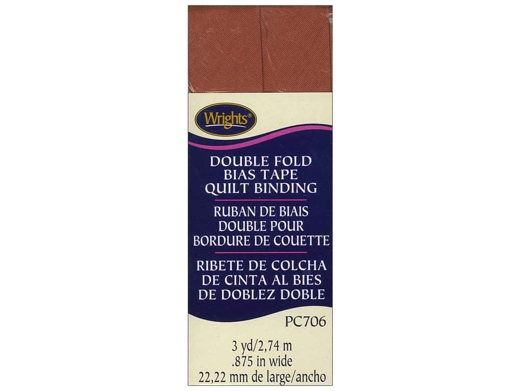 Wrights Double Fold Quilt Binding 3 yd. Spice