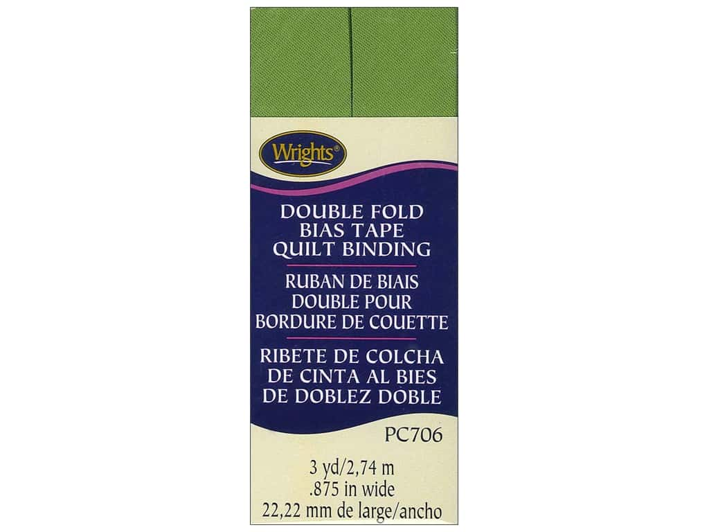Wrights Double Fold Quilt Binding 3 yd. Kiwi Green