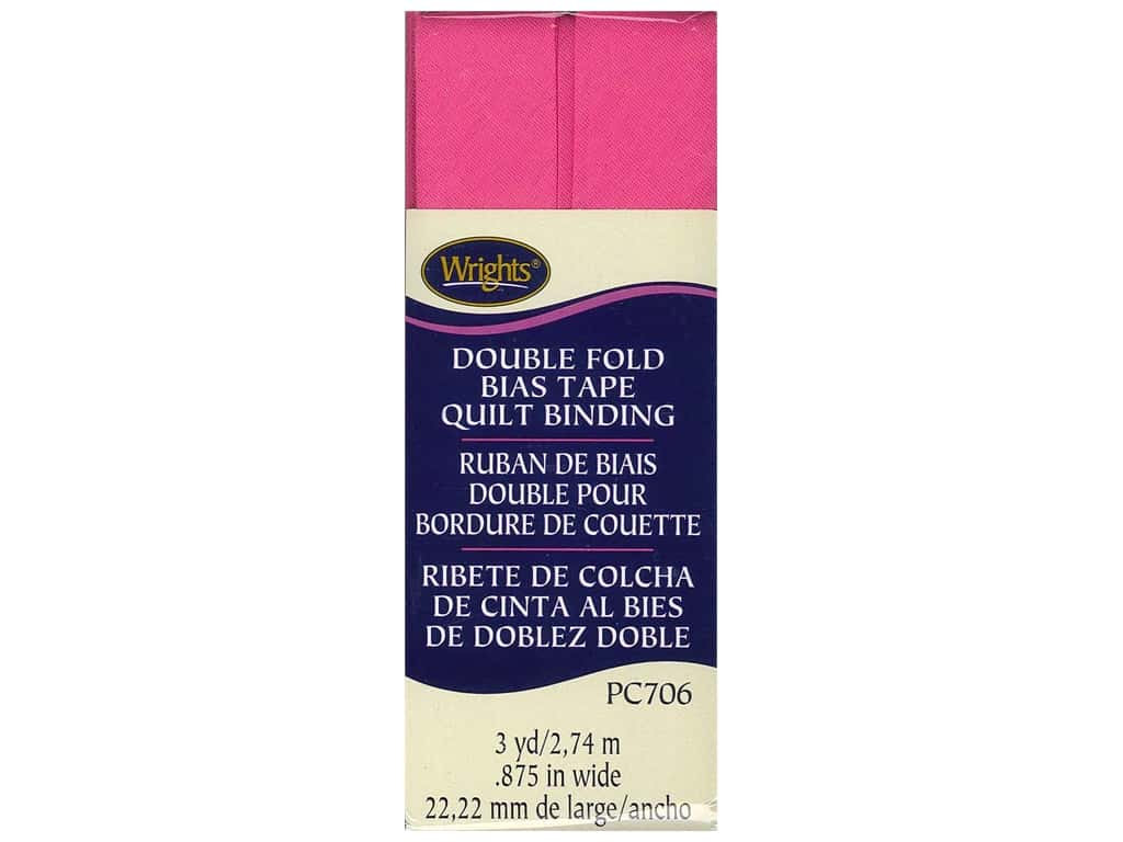 Wrights Double Fold Quilt Binding 3 yd. Berry Sorbet