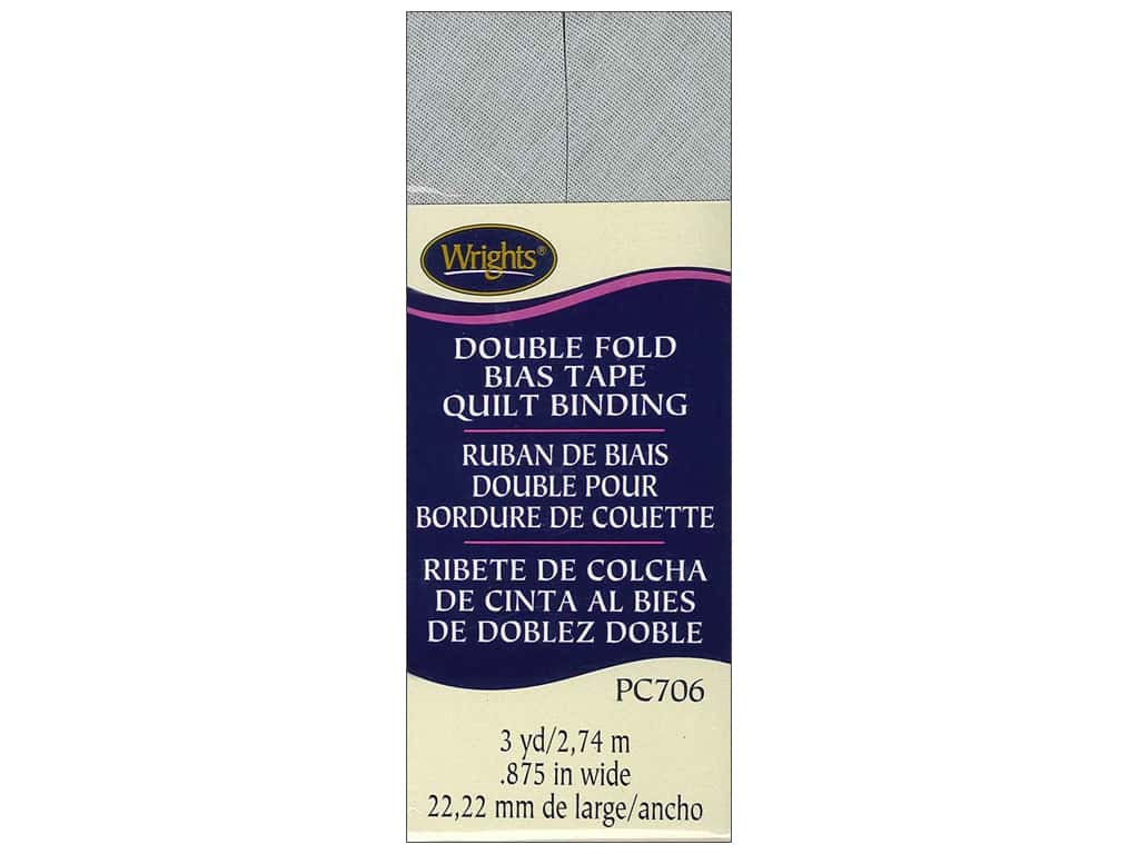Wrights Double Fold Quilt Binding - Shadow 3 yd.