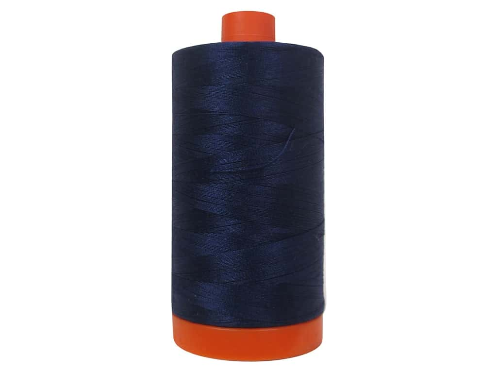 Aurifil Mako Cotton Quilting Thread 50 wt. #2745 Midnight 1420 yd.