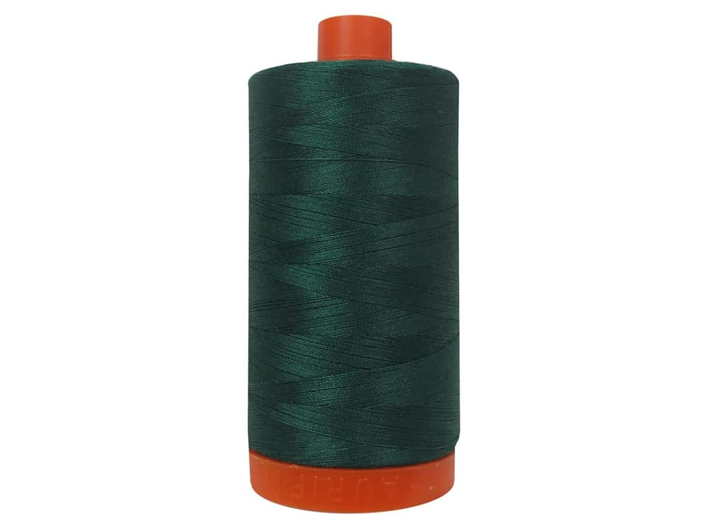 Aurifil Mako Cotton Quilting Thread 50 wt. #2885 Medium Spruce 1420 yd.