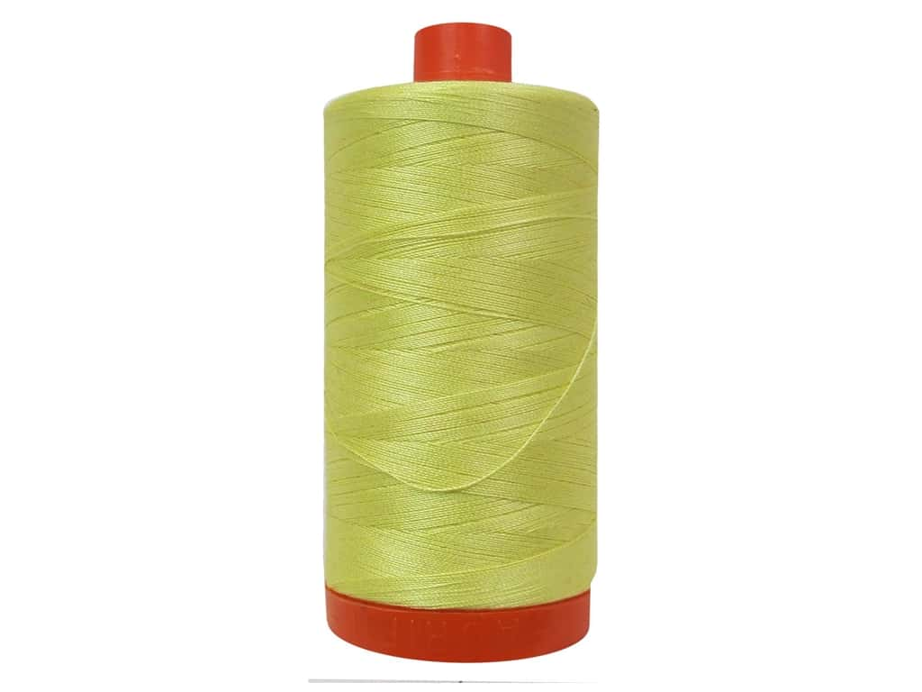 Aurifil Mako Cotton Quilting Thread 50 wt. #2115 Lemon 1420 yd.